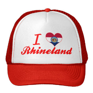 I Love Rhineland Missouri Trucker Hat