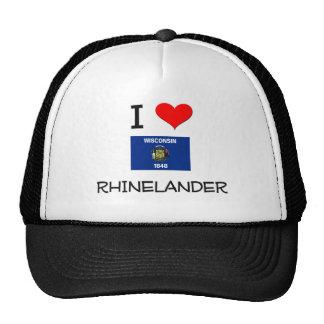 I Love Rhinelander Wisconsin Hat