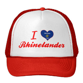 I Love Rhinelander Wisconsin Trucker Hats