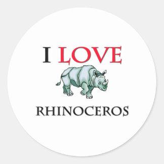 I Love Rhinoceros Sticker