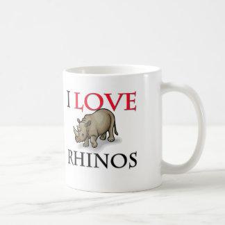I Love Rhinos Classic White Coffee Mug