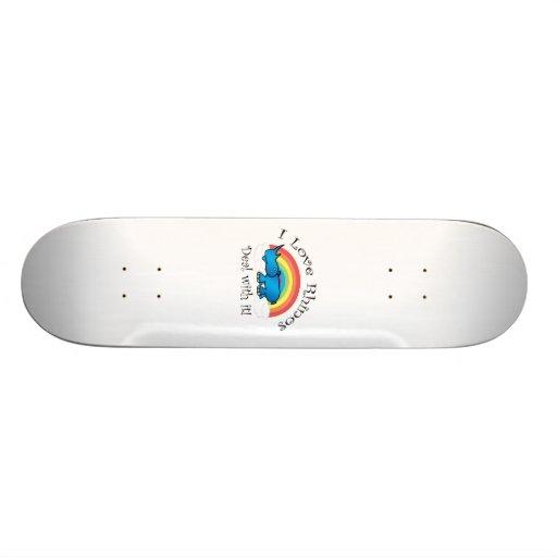 I love rhinos deal with it skateboard