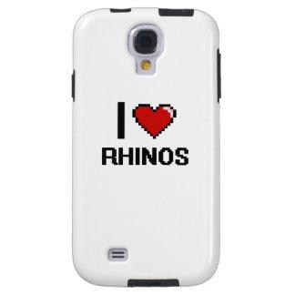 I love Rhinos Digital Design Galaxy S4 Case