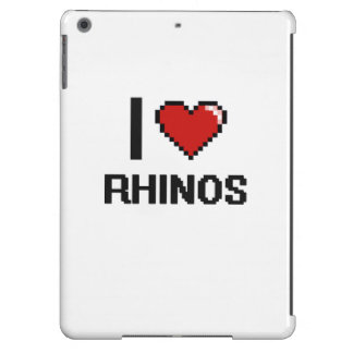 I love Rhinos Digital Design iPad Air Case