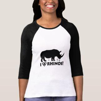 I Love Rhinos with Hoof Print T-Shirt