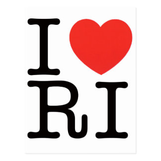 I LOVE RHODE ISLAND 2 POSTCARD