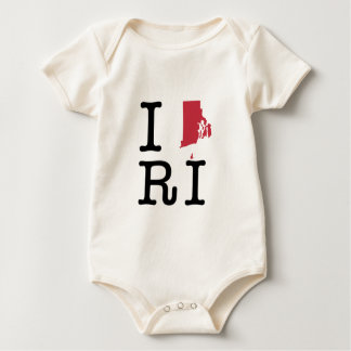 I Love Rhode Island Baby Bodysuit