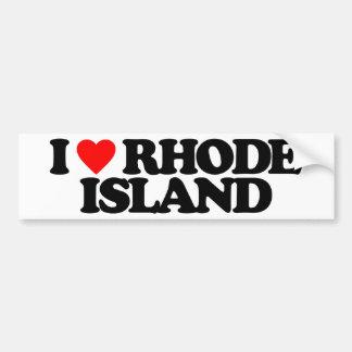 I LOVE RHODE ISLAND BUMPER STICKER
