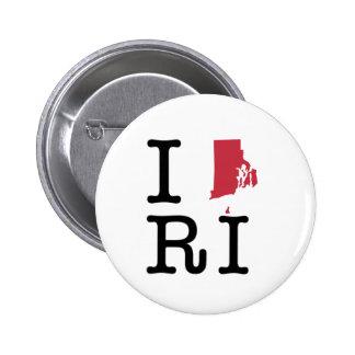 I Love Rhode Island Button