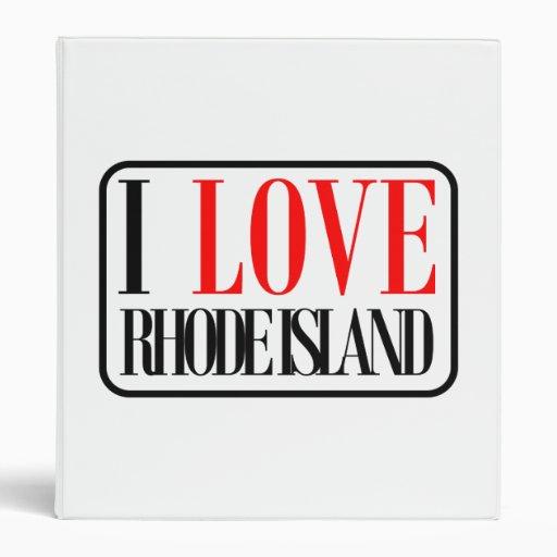 I Love Rhode Island Design 3 Ring Binder