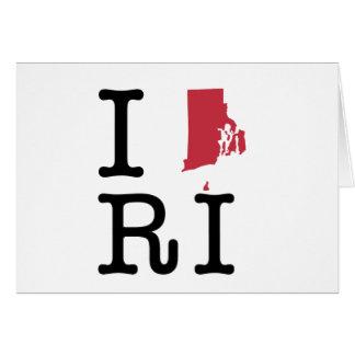 I Love Rhode Island Greeting Card
