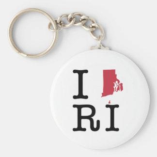 I Love Rhode Island Key Chains