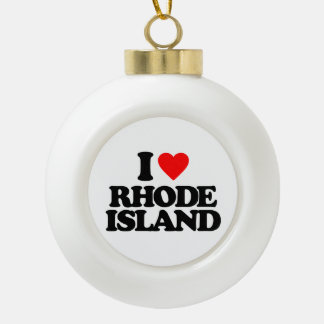 I LOVE RHODE ISLAND ORNAMENT