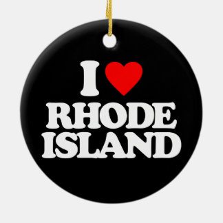 I LOVE RHODE ISLAND CHRISTMAS ORNAMENT