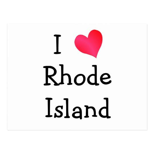 I Love Rhode Island Postcard