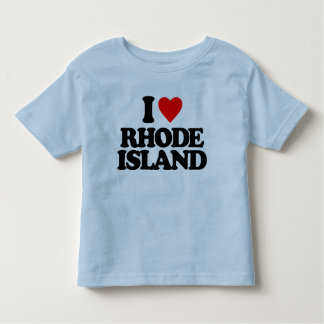 I LOVE RHODE ISLAND TODDLER T-SHIRT