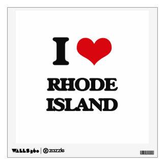 I Love Rhode Island Wall Decals