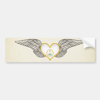I Love Rhode Island -wings Bumper Sticker