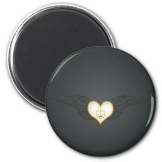 I Love Rhode Island -wings Refrigerator Magnets