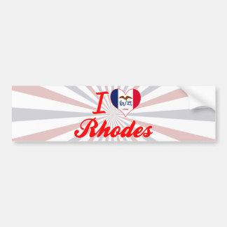 I Love Rhodes, Iowa Bumper Stickers