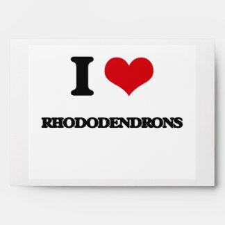 I Love Rhododendrons Envelopes