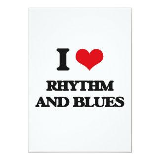 I Love RHYTHM AND BLUES 5x7 Paper Invitation Card