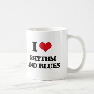 I Love Rhythm And Blues Classic White Coffee Mug