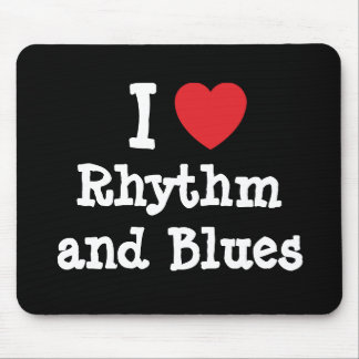I love Rhythm and Blues heart custom personalized Mouse Pads