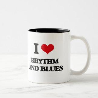 I Love RHYTHM AND BLUES Two-Tone Coffee Mug