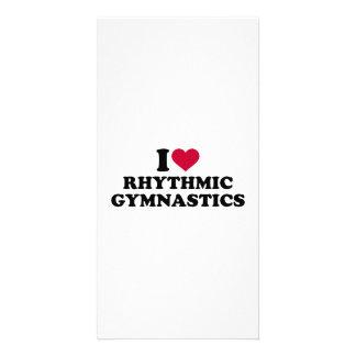 I love rhythmic gymnastics card