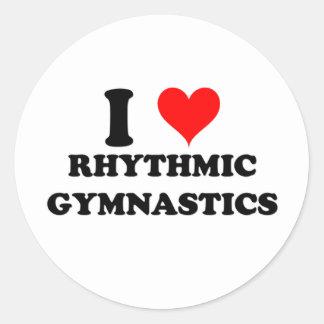 I Love Rhythmic Gymnastics Round Stickers