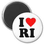 I LOVE RI 2 INCH ROUND MAGNET