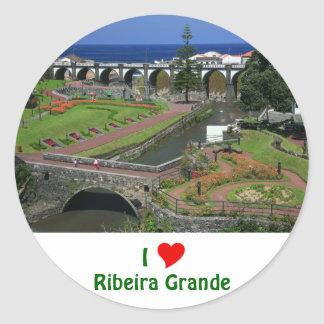I Love Ribeira Grande Classic Round Sticker