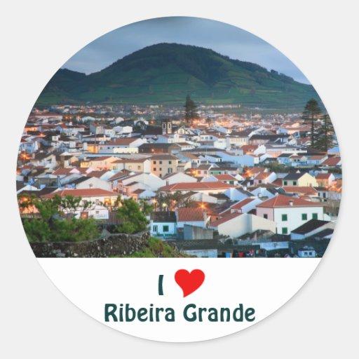 I Love Ribeira Grande Round Sticker