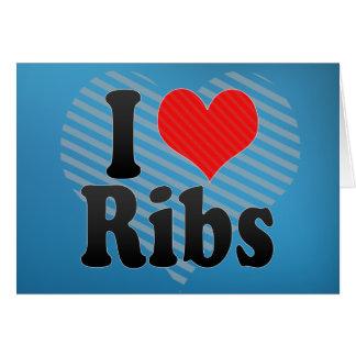 I Love Ribs Card