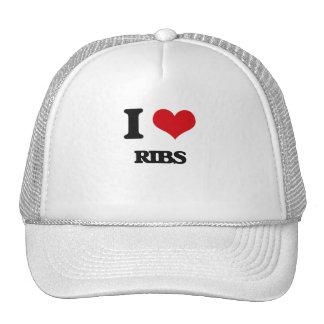 I Love Ribs Hats