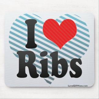 I Love Ribs Mouse Pad