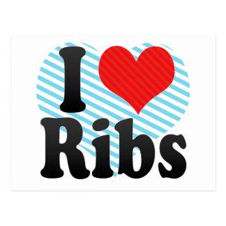 I Love Ribs Postcard