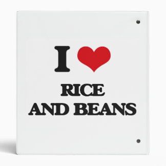 I love Rice And Beans 3 Ring Binder