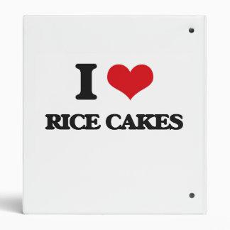 I Love Rice Cakes 3 Ring Binder