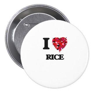 I love Rice Massachusetts 3 Inch Round Button