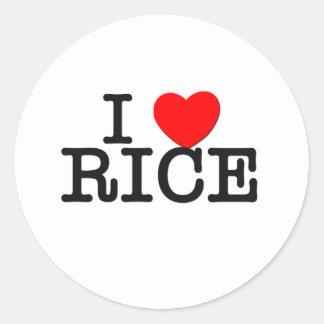 I Love Rice Massachusetts Classic Round Sticker