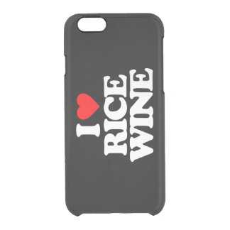 I LOVE RICE WINE CLEAR iPhone 6/6S CASE