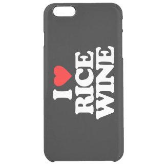 I LOVE RICE WINE CLEAR iPhone 6 PLUS CASE