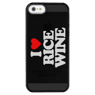 I LOVE RICE WINE CLEAR iPhone SE/5/5s CASE