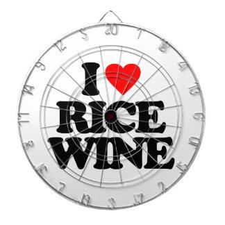 I LOVE RICE WINE DARTBOARD