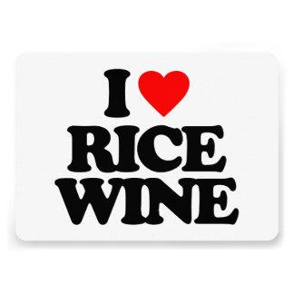 I LOVE RICE WINE CUSTOM ANNOUNCEMENT
