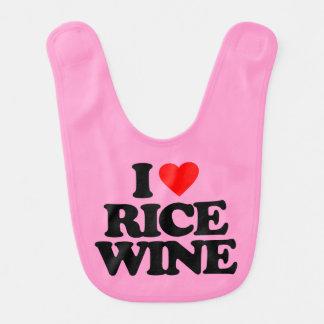I LOVE RICE WINE BIBS