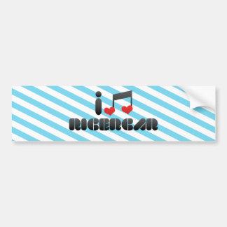 I Love Ricercar Bumper Stickers