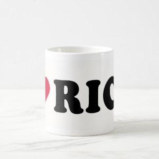I LOVE RICH COFFEE MUG